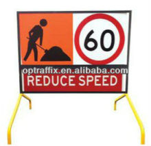 Optraffic Mobile Outdoor Construction Work Site Traffic Control Safety Boxed Edge Signs