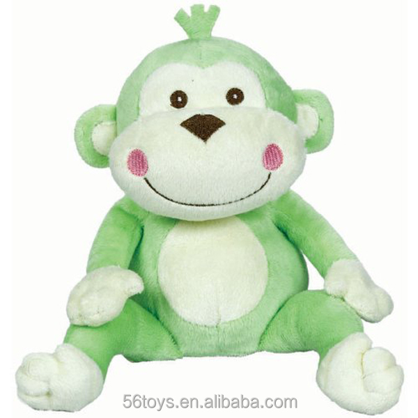 plush toys monkey with clothes hat soft green monkey plush toy