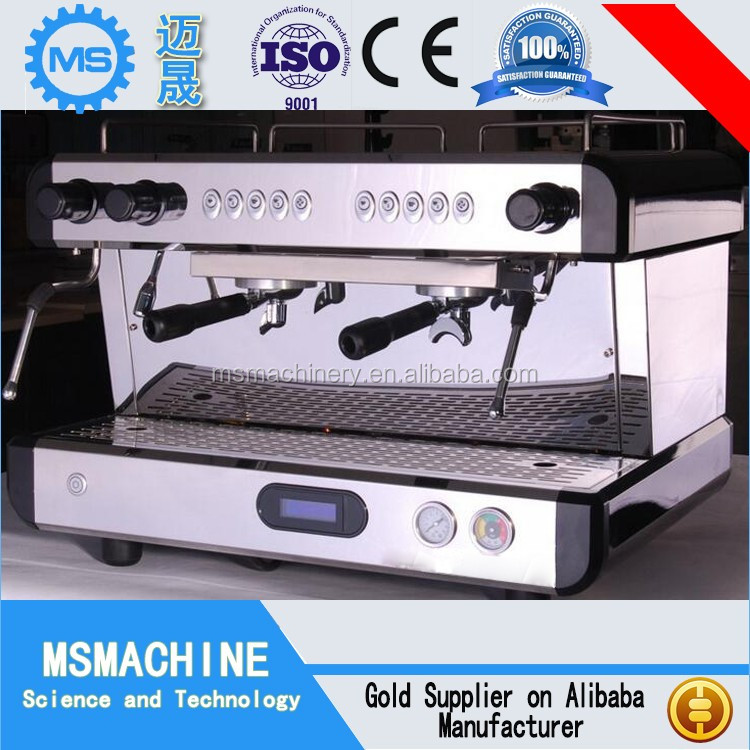2 group semi automatic espresso commercial coffee machine for cafe shop