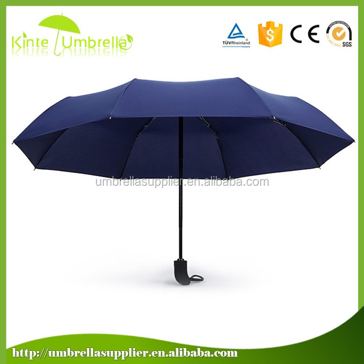 "21"" 8 ribs automation open close 3 fold windproof umbrella"