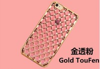 New products Luxry Diamond Design Cell Phone Case Mobile Cover for iPhone 5 6 6 Plus Gold Electroplating TPU Case