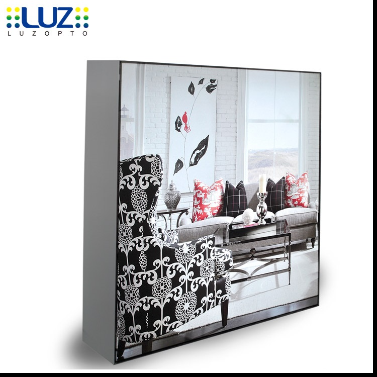 Slim acrylic picture frame LED magnetic light box, Acrylic box with LED light