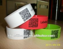 Scannable Custom ID QR code Wristband