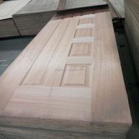 HDF natural veneer door skin for sale/laminate door skin