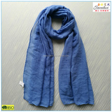 blue color stock viscose lady's scarf