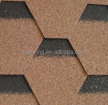 Hexagonal Bitumen Roofing Shingles Roofing tile