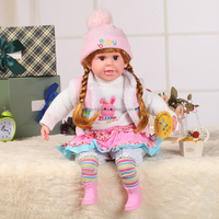 24 inch wholesale singing vinyl doll toys with beautiful clothes