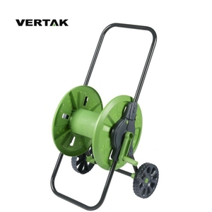 VERTAK Handle adjustable plastic garden hose reel cart