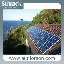 Durable pitched roof tiles solar pv mounting , 10 years warranty