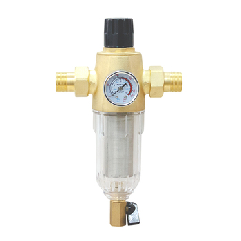 LL SX 13 pressure gauge washable wholehouse remove sediment pre filter