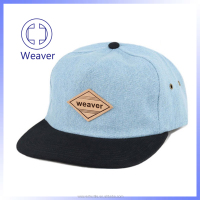 OEM Cap Snapback Custom Brim Hat Leather Patch Logo Snapback Hats Wholesale