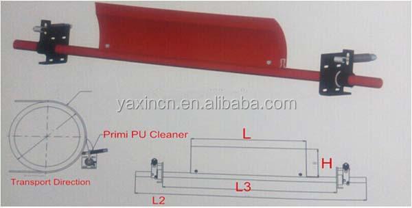 Primary polyurethane conveyor belt cleaner/scraper for mining