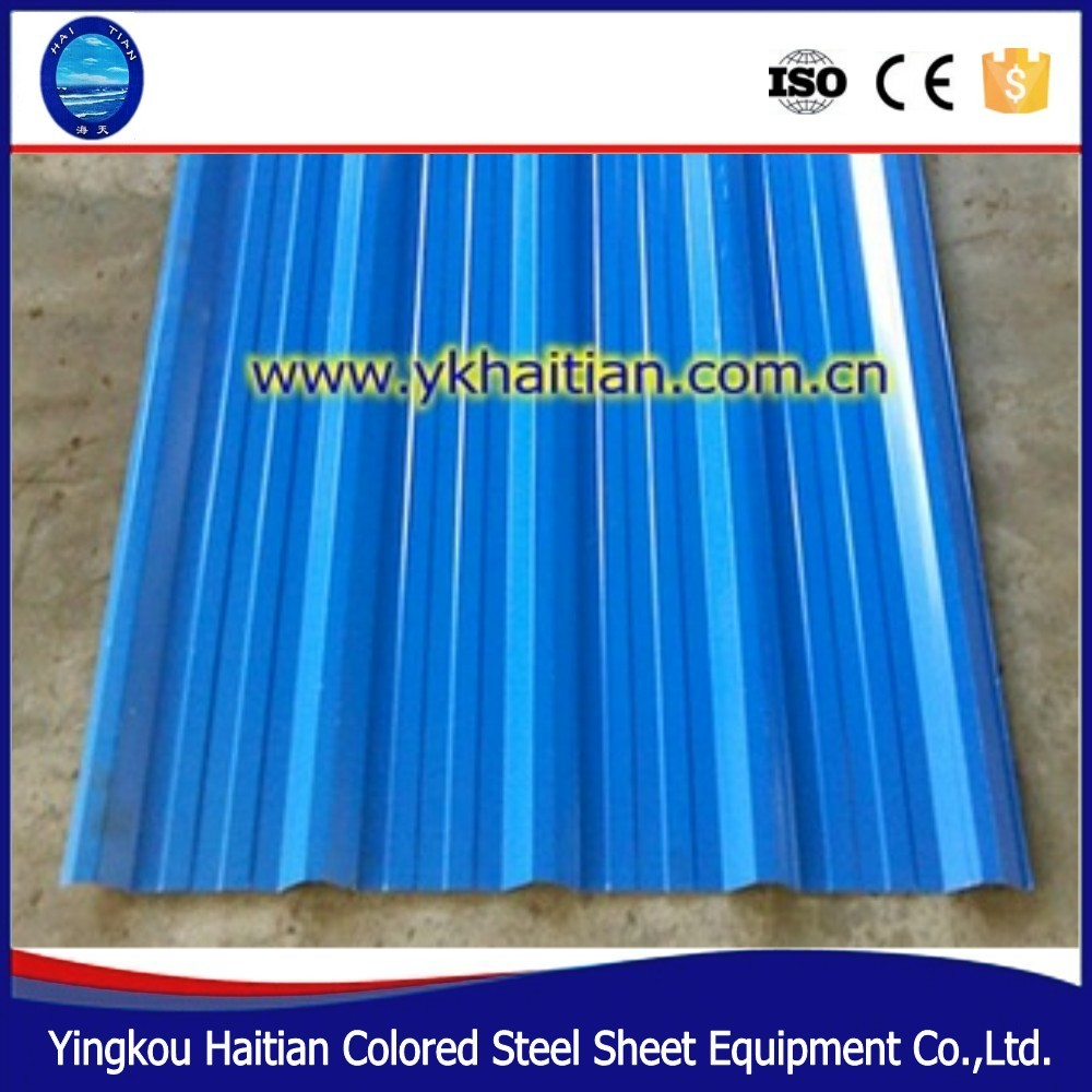 Construction material popular corrugated galvalume cheap color coated roof sheet tiles