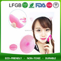 2017 silicone soft facial deep cleaning face brush washing cleaner/cleaning facial brush/beauty tool silicone facial brush