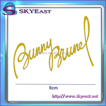 Customized Shiny Gold Carved Metal Name Plates In Special Signature Style