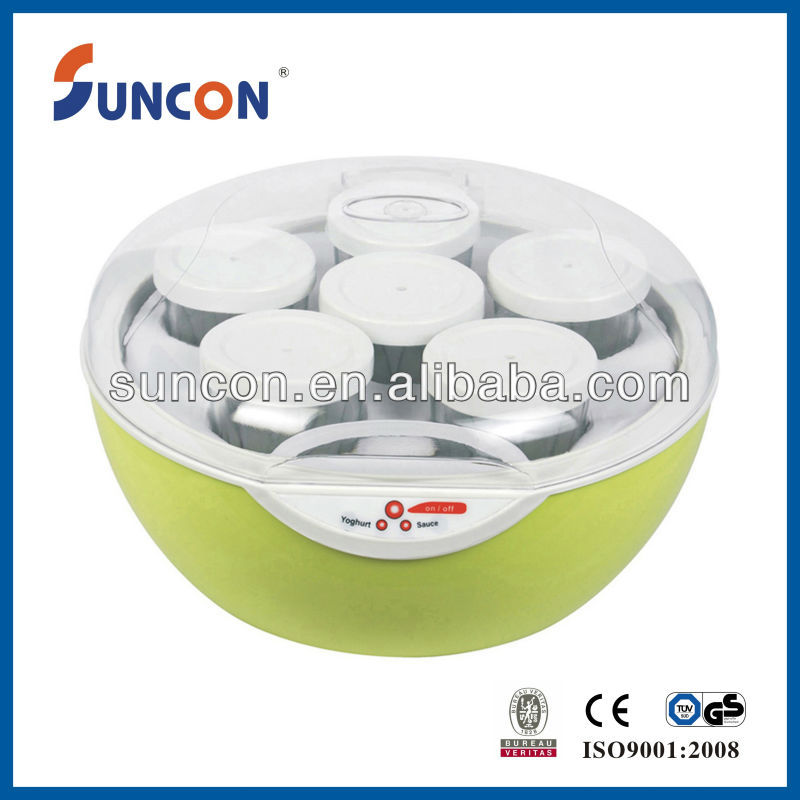 Green electirc yoghurt making machine,yogurt maker,yogurt maker with 6 cups