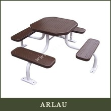 Arlau Commercial Portable Picnic Table, Peforated Steel Picnic Tables