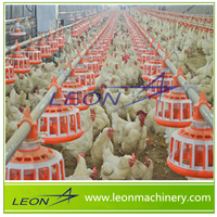 LEON Series Breeder Chicken Chain/Pan Feeding System For Poultry Farm