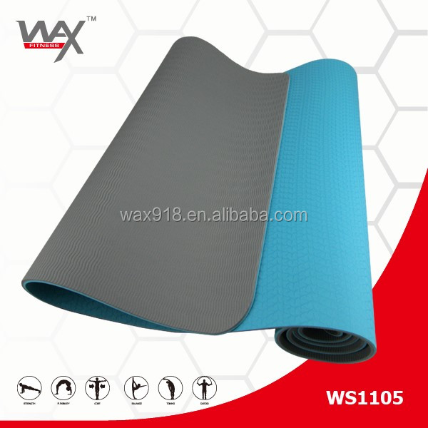 Nantong Wax Factory Eco Friendly TPE fitness yoga matt, non slip yoga mat