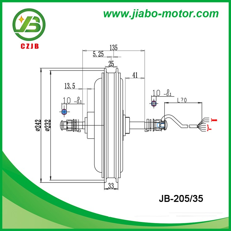 JB-205/35 Big Power 48v 1000w Brushless Electric Bicycle Hub Motor