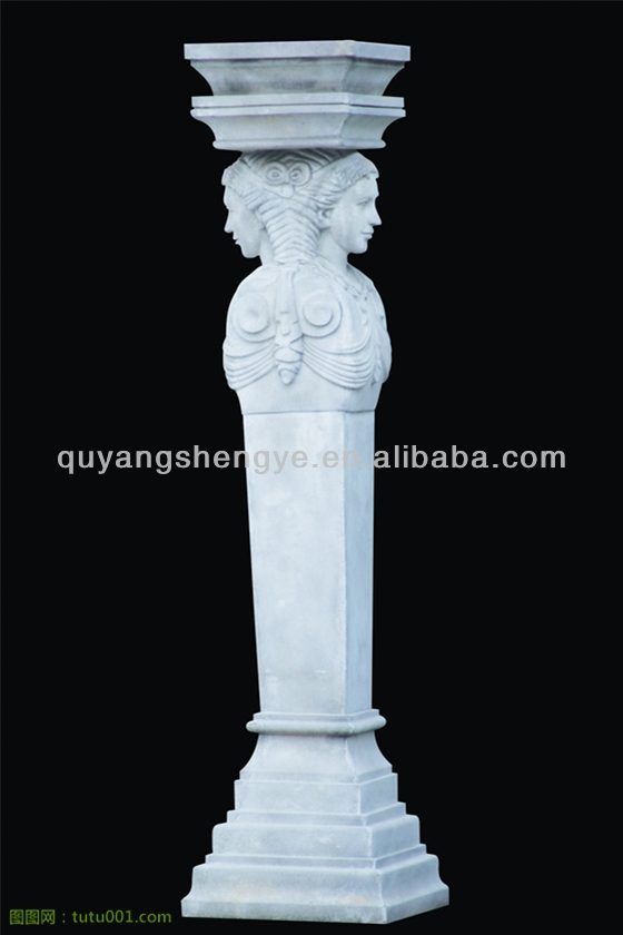 elegant Handcarved Natural stone Pillars