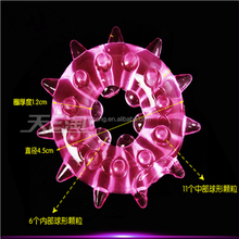 Passion to delay ejaculation Bumps delay Soft rubber Transparent pink penis ring silicone