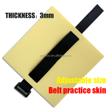 Blank rubber tattoo practice skin with belt for arm permanent makeup practice fake skin