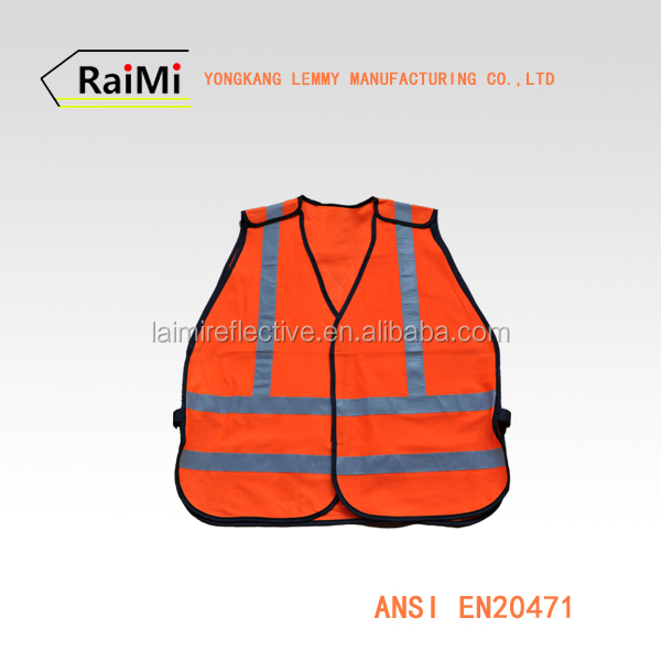 Red reflective running vest & high visibility safety vest for motorcycle