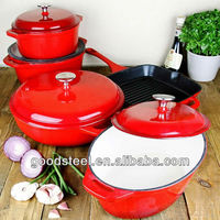 Highly Durable Cast Iron Enamel Cookware Set