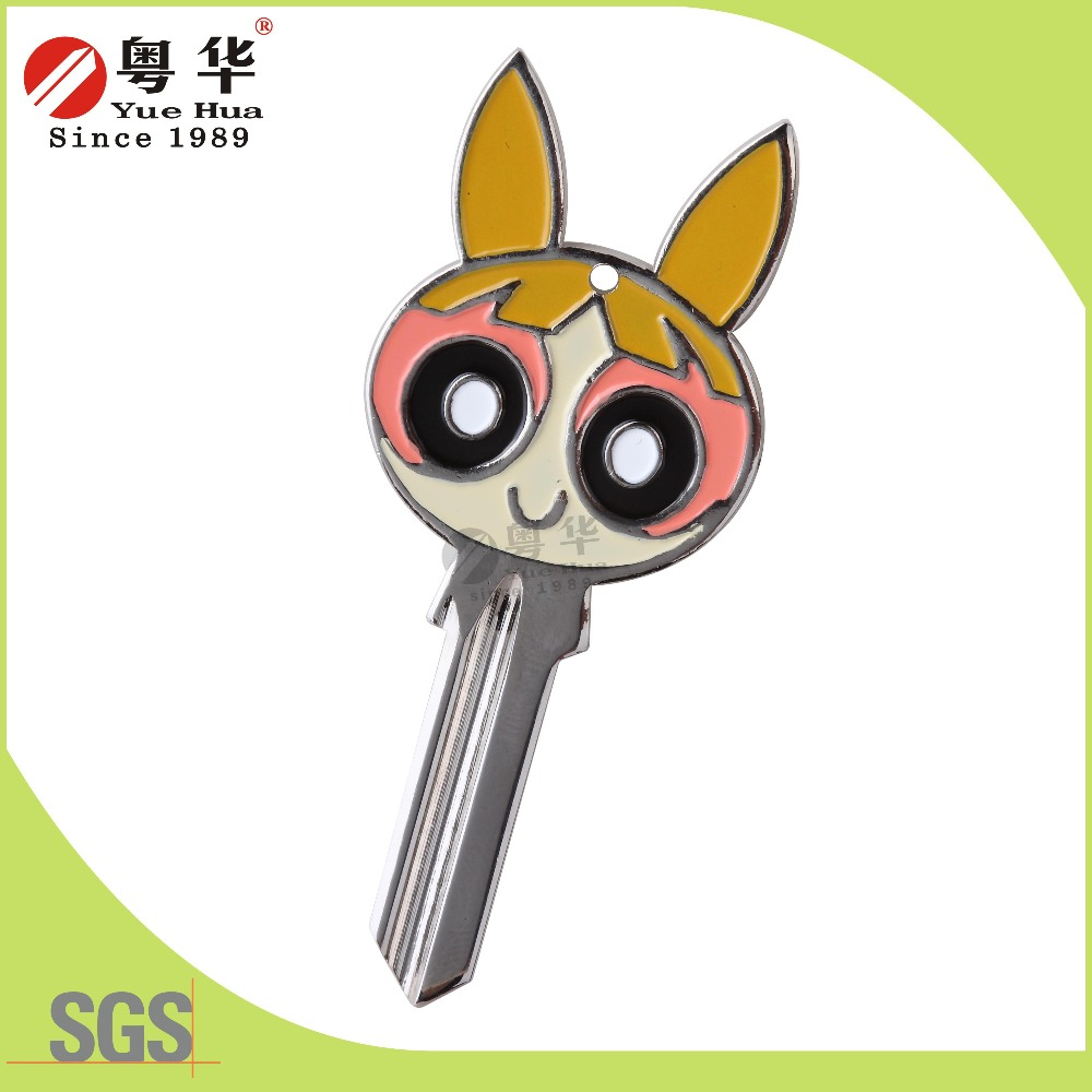 Factory direct prices quality and reputation protection animation key embryo with the powerpuff girls color key blank