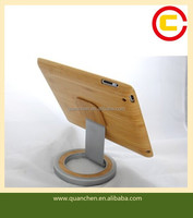 Bamboo pad case with stainless steel holder