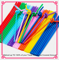 Disposable colors art plastic drinking straws