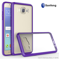 Soft Tpu+Crystal Clear Back Case Cover for Samsung J7/J710(2016)