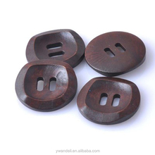 Coffee Color Garment Accessories Wood Shirt Buttons