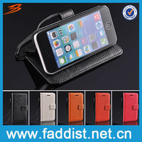 Wallet Stand Leather Cover for iphone 5c Card Holder Case