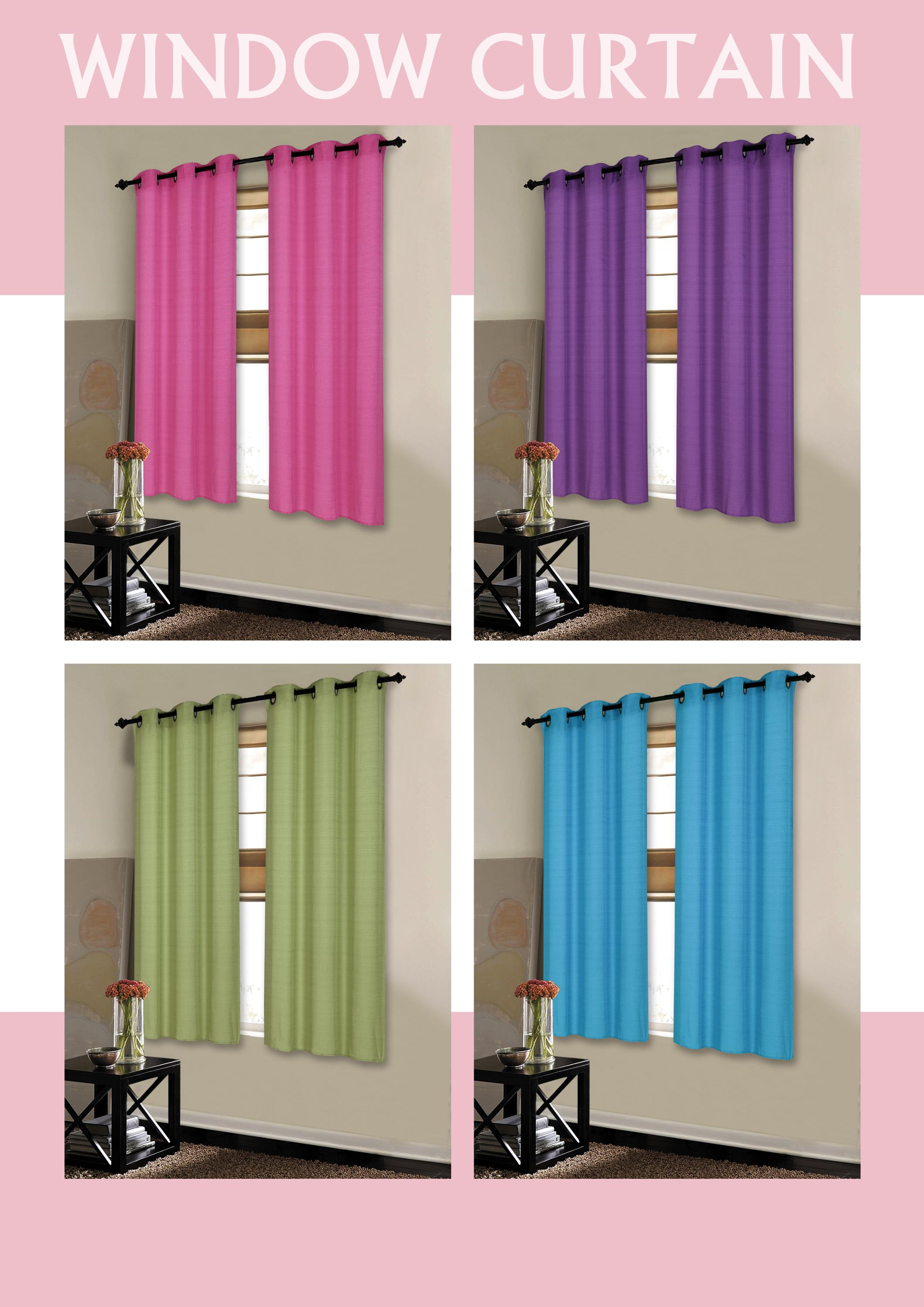 wholesale pure fancy color fabric polyester eyelet window curtain