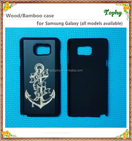For Samsung Galaxy note 5 high quality pure sublimation wooden bamboo cell phone case