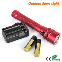 Underwater 50M CREE L2 LED Rechargeable Professional Diving Flashlight