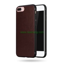 Crazy Horse PU Leather TPU Full Phone Cover Case For iPhone 7 Plus