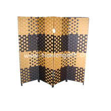 wholesale decorative elegant paper handmade woven movable screen wooden soundproof room divider