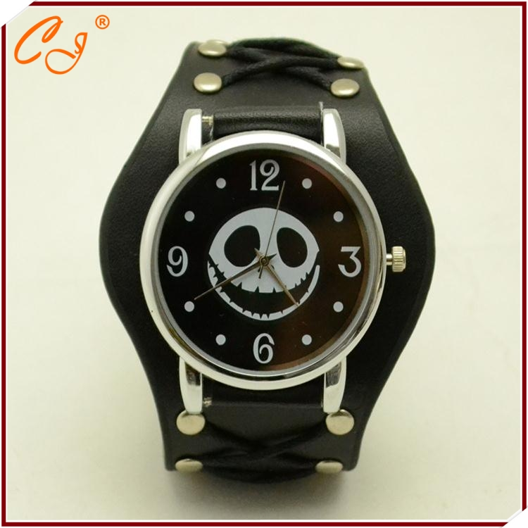 The New Punk New Smiling Face Skeleton Simple Strap Bracelet Watch Sourcing