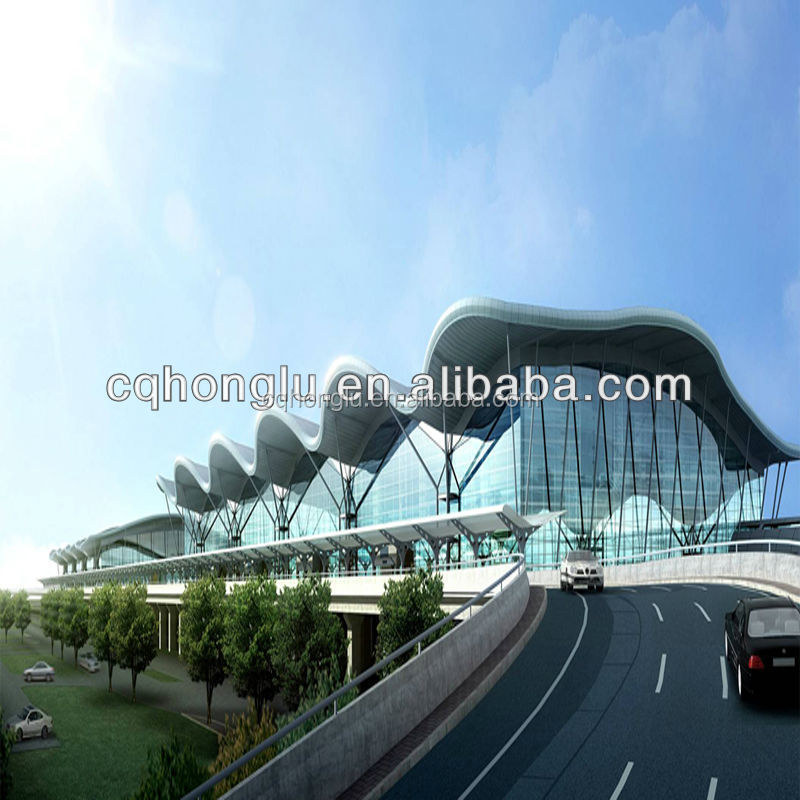 China Honglu steel airport roofing