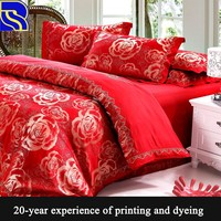 Chinese style wedding bed sheet bedding set