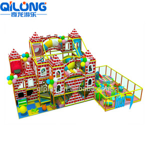 Labyrinth Newest Commercial Red Castle Parks Children Indoor Playground for Both Various Years Kids