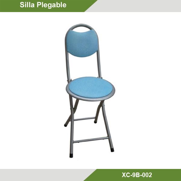Silla plegable azul se puede utilizar para cocina comedor Sillas plegables cocina