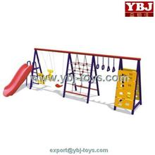 Amusement muti-functional kids playing swing set