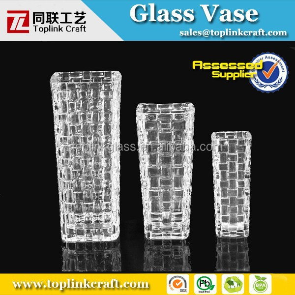 Newly Design Square Crystal Vase,glass globe wax vaporizer pen kit