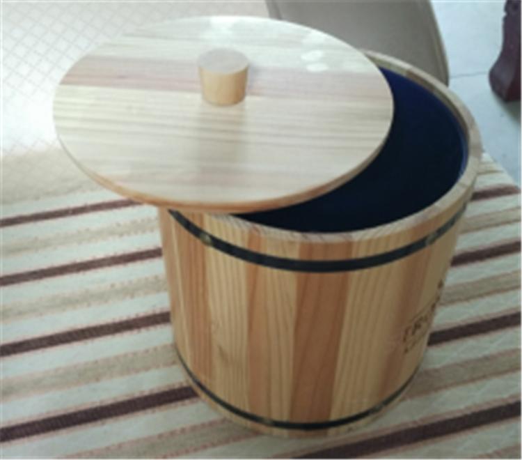en bois en plastique vin seau glace avec couvercle et poign e seaux refroidisseurs supports. Black Bedroom Furniture Sets. Home Design Ideas