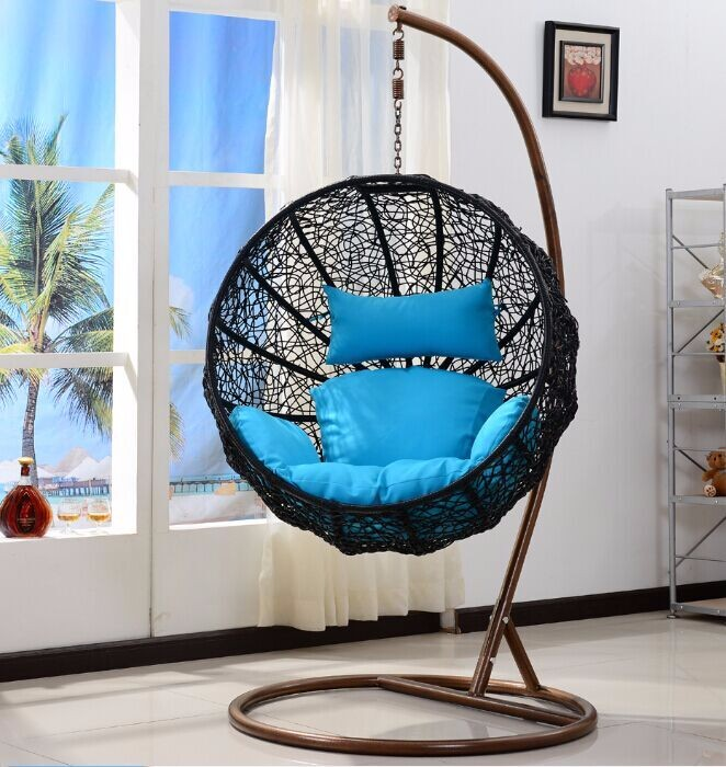 Hot Sale Cheap Hanging Rattan Steel Hanging Egg Chair For