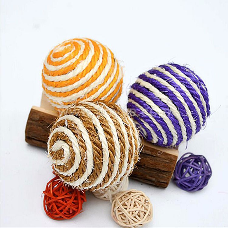 Natural cotton rope Pet ball wholesale cat toys